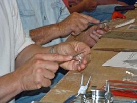 Silversmithing training ring