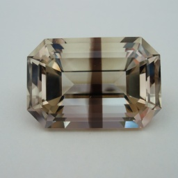 Smoky Step Faceted Quartz